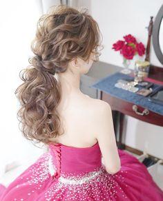 Bridal party makeup bridesmaids Ideas Brautparty Make-up Brautjungfern Ideen Party Hairstyles, Bride Hairstyles, Cute Hairstyles, Party Make-up, Best Bob Haircuts, Bridal Hairdo, Hair Arrange, Bridesmaid Hair, Hair Trends