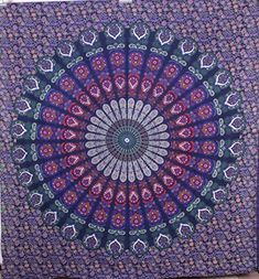 Hippie Mandala Purple Tapestry wall hanging boho bohemian Queen bedding throw bedspread ethnic home decor art Purple Tapestry, Indian Tapestry, Bohemian Tapestry, Bohemian Bedding, Boho Bedroom Decor, Mandala Tapestry, Hippie Tapestries, Bedroom Ideas, Indian Bedding