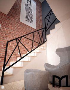 Projekt domu jednorodzinnego okolice Ostrołęki - Schody, styl nowoczesny - zdjęcie od Mart-Design Architektura Wnętrz