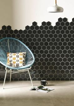 Honeycomb Tile Bathroom Unique Hexagon Tile Allover Geometric Wall Stencil by Gypsymintstencils – Bathroom Decoration Ideas Hexagon Tile Backsplash, Hexagon Mosaic Tile, Fireclay Tile, Hex Tile, Stone Mosaic, Tiling, Kitchen Tiles, Wall And Floor Tiles, Wall Tiles