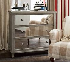 Luxury Pottery Barn Park Mirrored Dresser