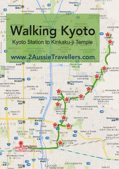The map of kyoto