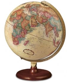 Hastings 12 inch desktop world globe by replogle globes globes the forester antique ocean raised relief desktop world globe by replogle stands 12 inches tall and features antique styled mapping along with a rich gumiabroncs Image collections