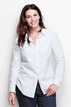 114598b2c7412 Women s Embroidery Washed Oxford Shirt from Lands  End Minimalist Wardrobe