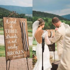 """Ashton had three braids engraved in my ring! I love this!!!  """"Though one may be overpowered, two can defend themselves. A cord of three strands is not easily broken."""" -Ecclesiastes 4:12 A symbol of God's sacred union in marriage."""