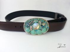 Womens Belt Buckle Shells Pearls Vintage by EyesofAnastasia