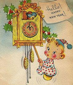 vintage New Year Illustration