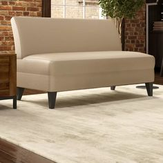 Ebern Designs Petterson Armless Loveseat   Wayfair Latte, Leather Loveseat, Faux Leather Fabric, Best Sofa, Small Space Living, Sleeper Sofa, Upholstered Furniture, Seat Cushions, Love Seat