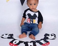Mickey Mouse Birthday Banner ONE Banner Mickey by LittleMichaels