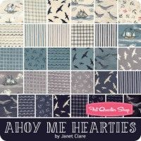 Ahoy Me Hearties Half Yard Bundle Reservation Janet Clare for Moda Fabrics
