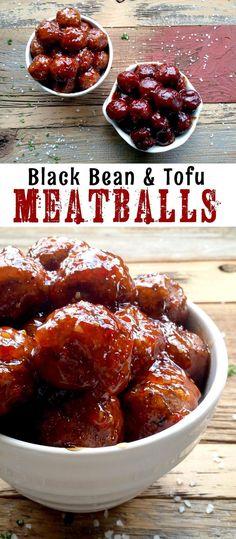 :: V e g a n & Vegetarian :: Black Bean and Tofu Meatballs Vegan Foods, Vegan Dishes, Vegan Vegetarian, Vegetarian Recipes, Raw Vegan, Paleo, Tofu Recipes, Whole Food Recipes, Cooking Recipes
