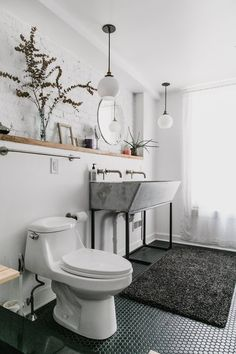 The Stylish Bathroom Design Direction That's Perfect for a Tight Budget   Apartment Therapy