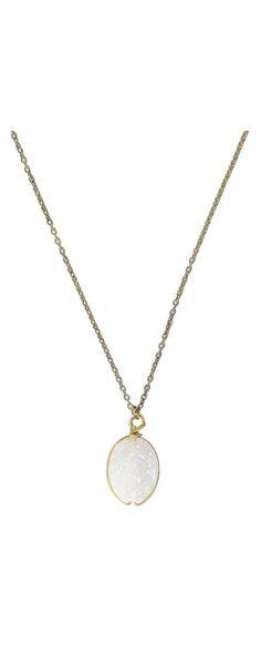 Ivory Sparkle Necklace   www.lilyboutique.com