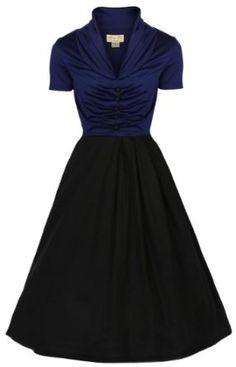 Amazon.com: Lindy Bop Women's Elsa Classy 1950's Rockabilly Swing Jive Shirt: Clothing