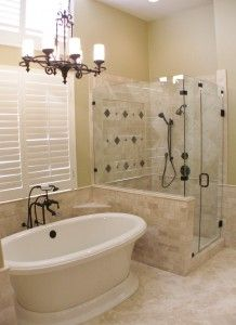 beautifully updated master bath