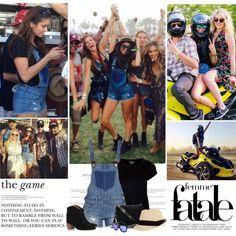 Nina Dobrev. | Coachella 2014. by sarahutcherson on Polyvore featuring Topshop, Isabel Marant, UGG Australia, Linda Farrow, GetTheLook, NinaDobrev, coachella and Coachella2014