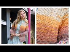 Seasonal Very Light Cardigan Making (Armor Knit) - Saisonale leichte . Knitting Stitches, Baby Knitting, Knitting Patterns, How To Purl Knit, Knit Purl, Moda Emo, Angora, Batik, Crochet Videos