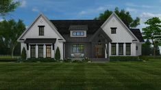 Check out plan modern farmhouse with Sq. D a bonus room. Craftsman Style House Plans, Ranch House Plans, Best House Plans, Country House Plans, Dream House Plans, Modern Craftsman, 2200 Sq Ft House Plans, Modern Farmhouse Exterior, Farmhouse Design