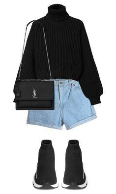 """Street style"" by carolminajq on Polyvore featuring moda, Diesel, Balenciaga e Yves Saint Laurent"