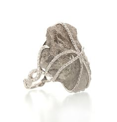 Yikes...89.10 carats...Rough Diamond Cocktail Ring - I WILL NEVER OWN THIS, but this is too cool:)