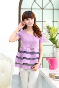 Short Sleeve, Fashion, Chiffon, Shirt-Tunic, Lace, Layers, YRB2103, YRB Fashion, Good-Looker, Free Shipping, online Clothing, Womens