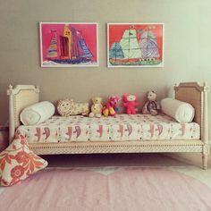 Lulu DK heart rug and artwork // girl's bedroom
