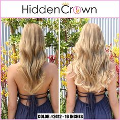 A subtle color change and a lot of volume added. www.hiddencrown.com