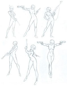 35 awesome gun pose reference images references drawings pose