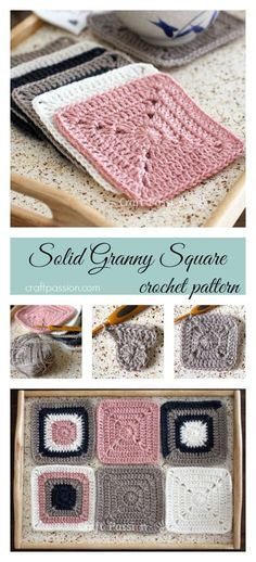 Free Solid Granny Square crochet pattern and detail pictures of the block. Join up the squares to make a bigger project or simply use it individually.