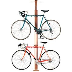 Red Oak Floor to Ceiling Bike Rack is an attractively designed for up to 2 bikes as standard and can be upgraded to carry 4 bikes.
