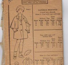 1920s Vintage Sewing Pattern