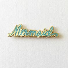 Calling all mermaids! This teensy tiny (and sparkly!) lapel pin makes the most charming accessory! Wear on your jacket, sweater, shirt collar, tote bag, or anywhere that needs some extra cuteness. Ava