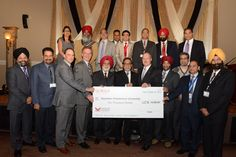 South Asian Business Association of British Columbia presented a cheque of $ 10,000 to Kwantlen Polytechnic University. Finance Minister of British Columbia Honorable Mike de Jong graced this ceremony.  South Asian Business Association of British Columbia so far has raised $50,000.   In the picture:  SABA Founding Members, Honorable Mike de Jong Finance Minister, MLA Marvin Hunt, Arvinder Singh Bubber Chancellor Kwantlen Polytechnic University