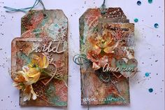 Tags by DT Bea. April 2017 challenge inspiration