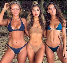 Gorgeous girls posing at the beach with her perky breasts seductive rounded plump ass at the beach in bikini swimwear. Bikini Babes, Sexy Bikini, Bikini Girls, Bikini Swimsuit, Beach Girls, Beach Babe, Sunset Beach, Corps Parfait, Summer Vibes