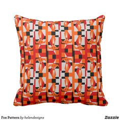 Fox Pattern Throw Pillow - animal gift ideas animals and pets diy customize Geometric Fox, Fox Pattern, Diy Stuffed Animals, Pet Gifts, Home And Living, Decorative Pillows, Throw Pillows, Cushions, Gift Ideas