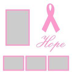 Want2scrap  Hope - 12x12 Overlay Scrapbook laser design page