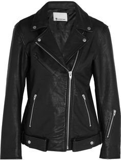 $1,295, Alexander Wang T By Textured Leather Biker Jacket. Sold by NET-A-PORTER.COM. Click for more info: https://lookastic.com/women/shop_items/393063/redirect