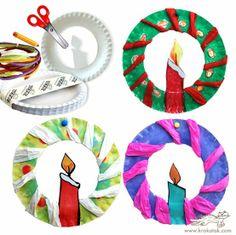 Papierenbordjes knutsel voor Kerst, Leuk en simpel idee voor de kleine kids!