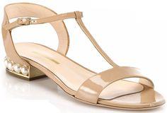 Nicholas Kirkwood Casati flat sandals nude