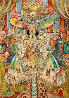 "Veda Ram ""Шамана мама"" Sacred Feminine, Divine Feminine, Spirited Art, Fantasy Setting, Visionary Art, Tantra, Lost & Found, Art Of Living, Three Dimensional"