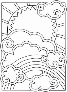 Image Result For Sun Designs Coloring Book