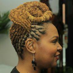 Styled by Larry @Wendy Werley-Williams.dua-fe.com Insagram: locsbyduafe #duafeholistichairecare #locs