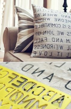 How to add letters on your pillows