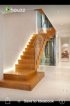 Luz en escalera