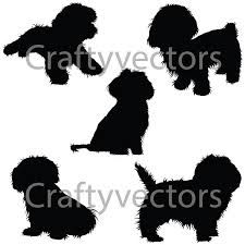 Image result for dog silhouette shih tzu