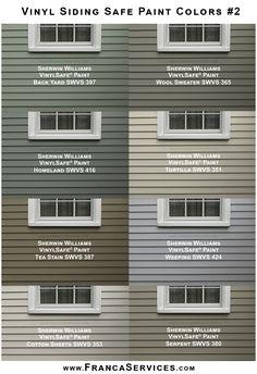 Painting Vinyl Siding, Vinyl Siding Colors, Exterior Paint Colors For House, Paint Colors For Home, Cost Of Vinyl Siding, Vinyl House Siding, Diy Exterior House Painting, Grey Siding House, Best Vinyl Siding