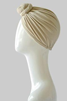 Cashmere Top Knot Bun Turban
