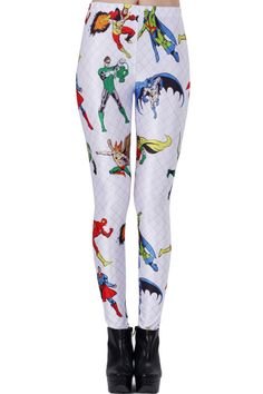 Super Hero White Leggings.  There super cute but THEIR _N_O_T_ PANTS!!!!!!!!