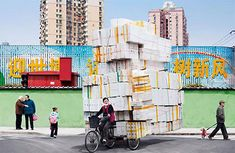 Chinese delivery riders